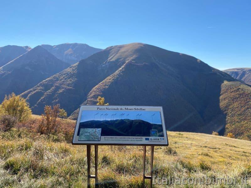 Fonte dell'Aquila Sibillini - punto panoramico
