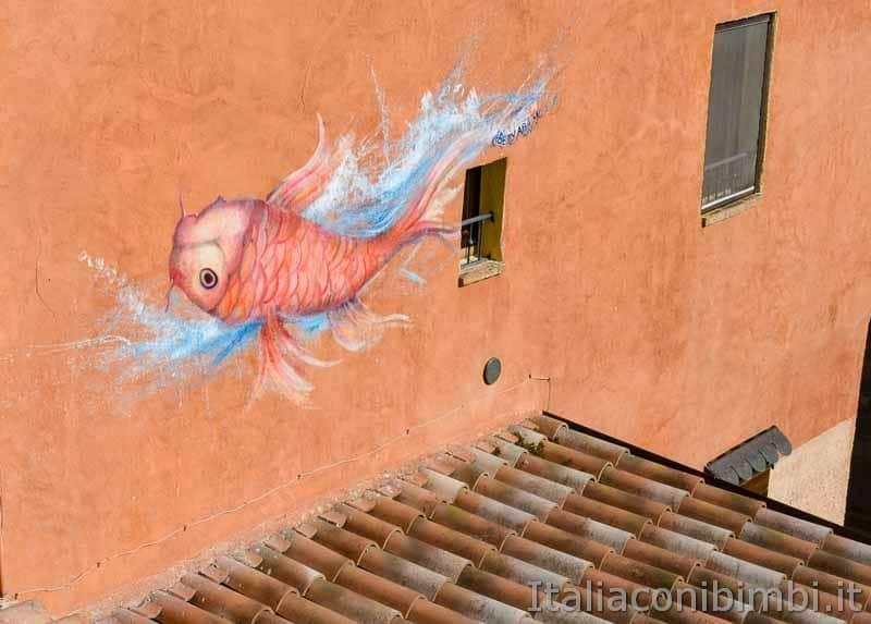 Braccano - murales pesce