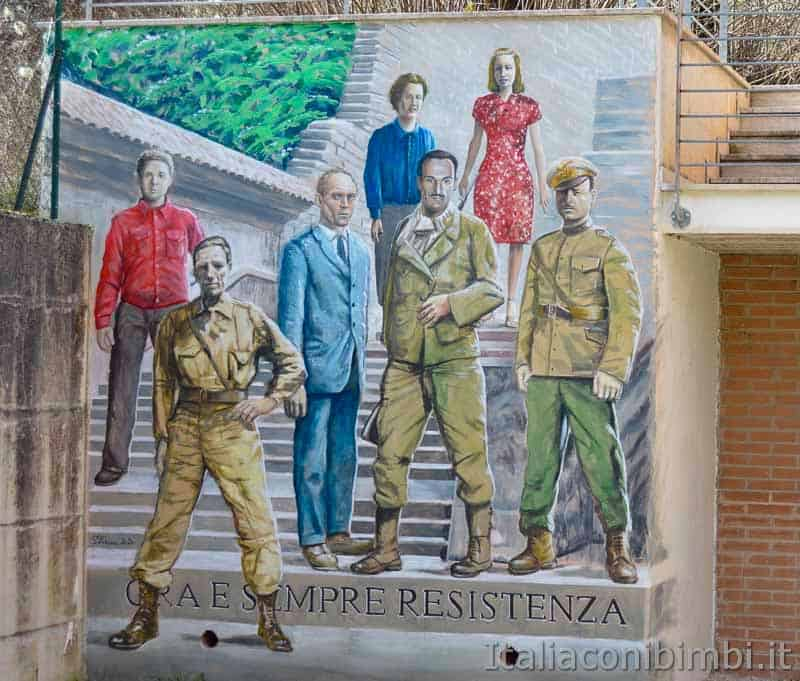 Braccano - murales resistenza