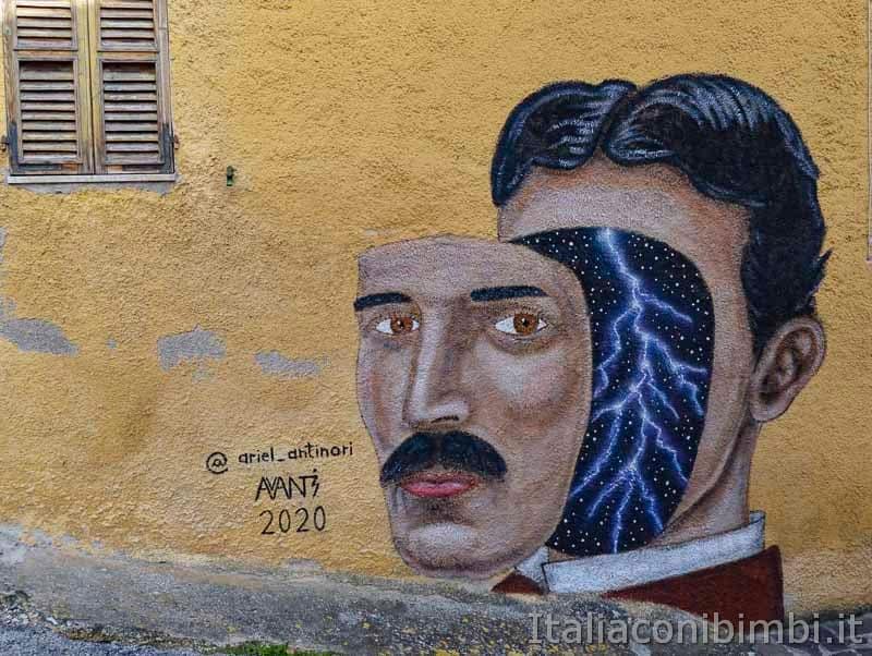 Braccano - murales uomo