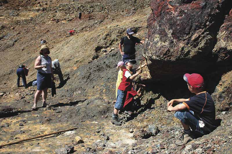 Isola-d-elba - famiglia ricerca dei minerali