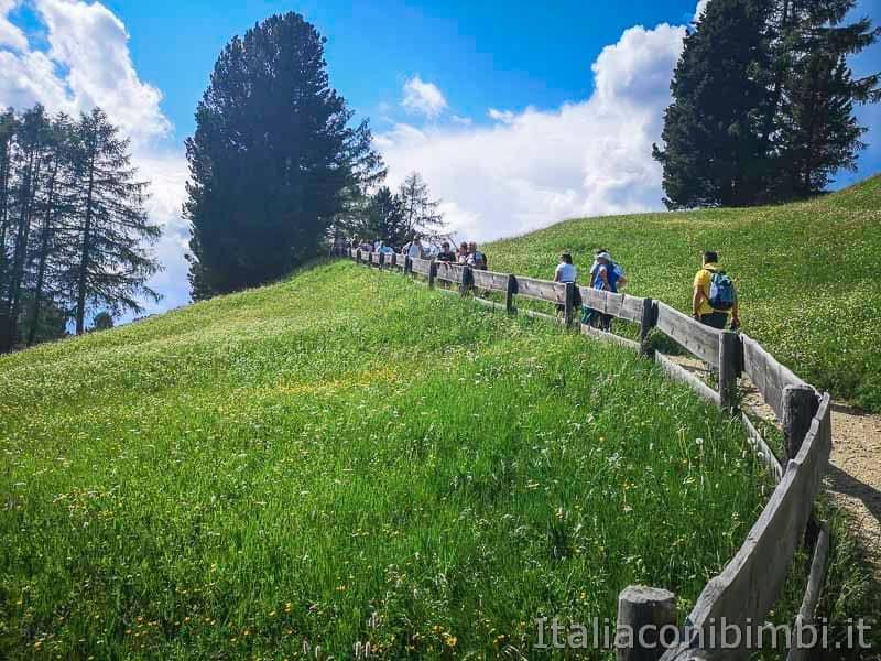 Val Gardena - rifugio Juac sentiero