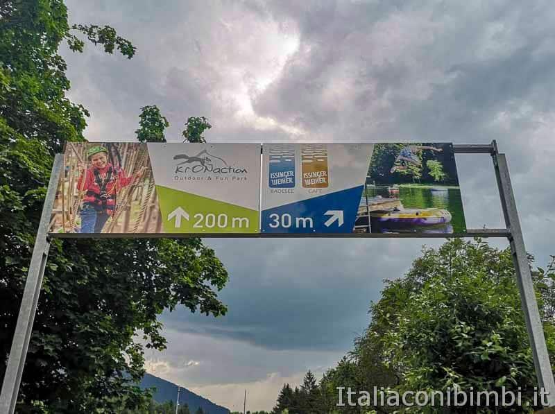 Kronaction e lago d-Issengo- cartello