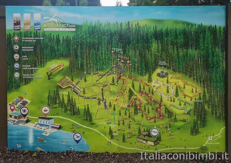 Kronaction parco avventura- mappa