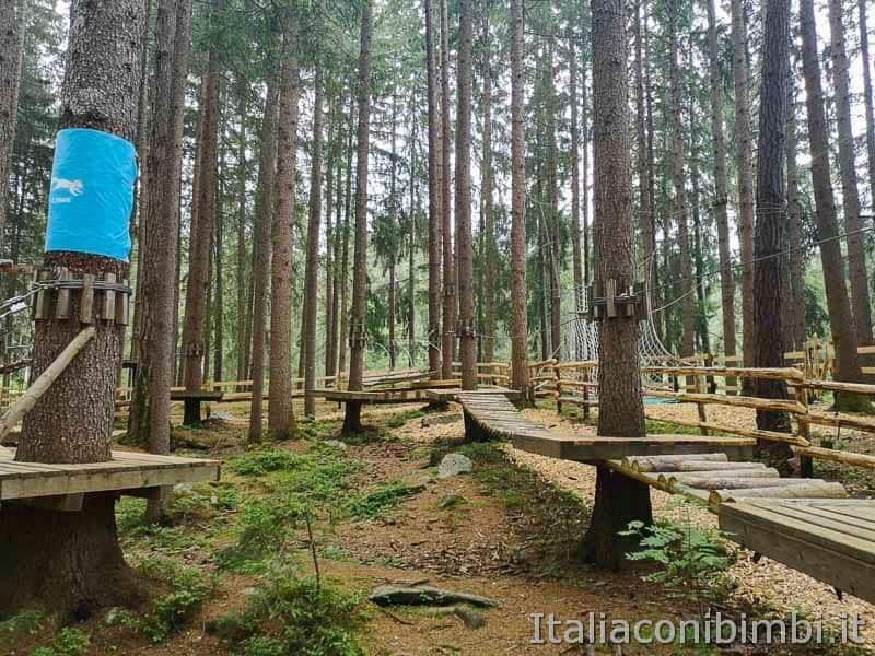 Kronaction - percorsi parco avventura alto adige