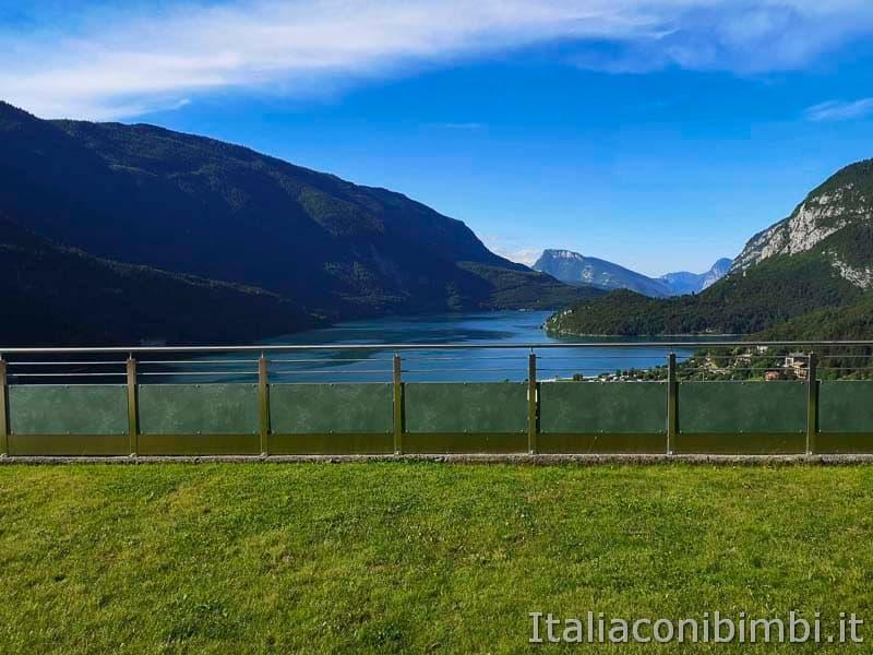 Lago di Molveno - vista dall-appartamento