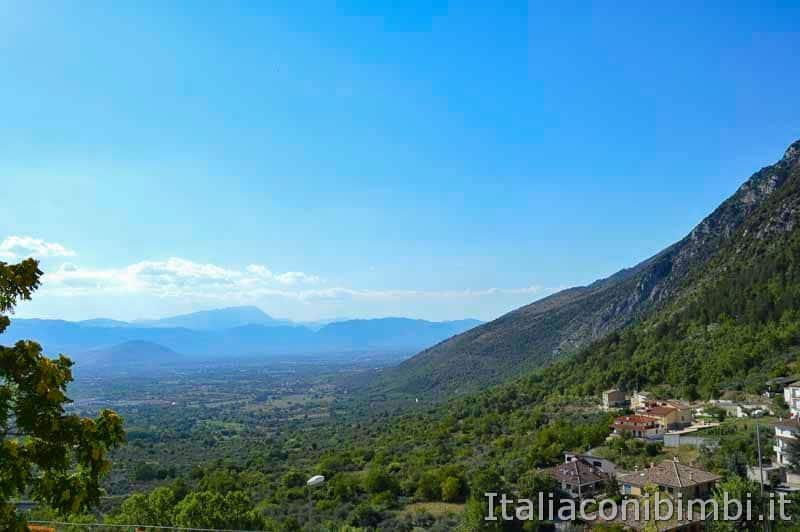 Parco nazionale della Majella - panorama da Pacentro