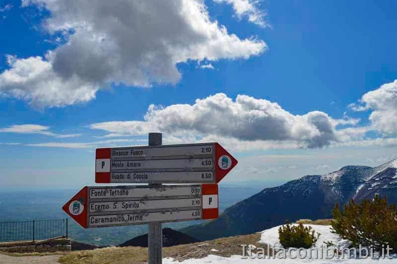 Parco nazionale della Majella - cartelli sentiero Porreca Montanelli