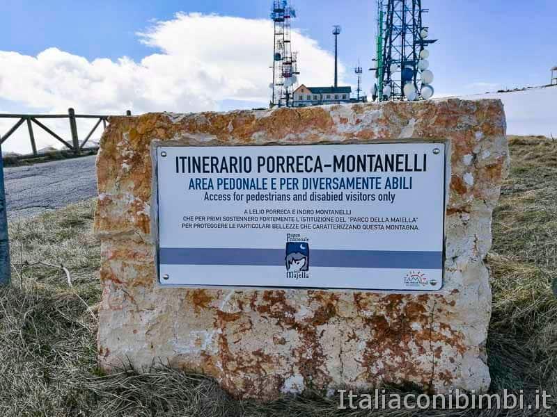 Parco nazionale della Majella - inizio sentiero Porreca Montanelli