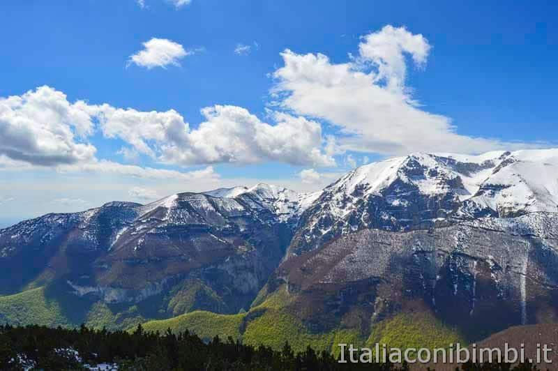 Parco nazionale della Majella - panorama dal sentiero Porreca Montanelli