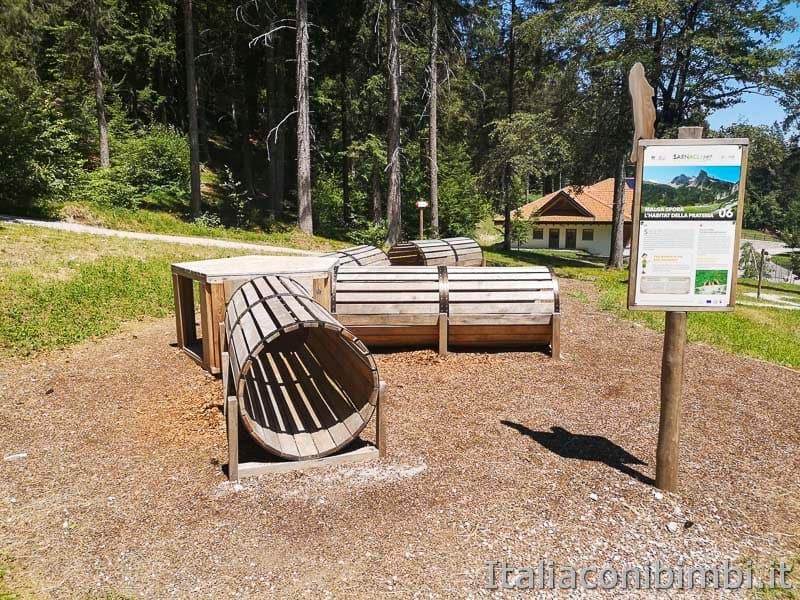 Sarnacli Park - tunnel di legno