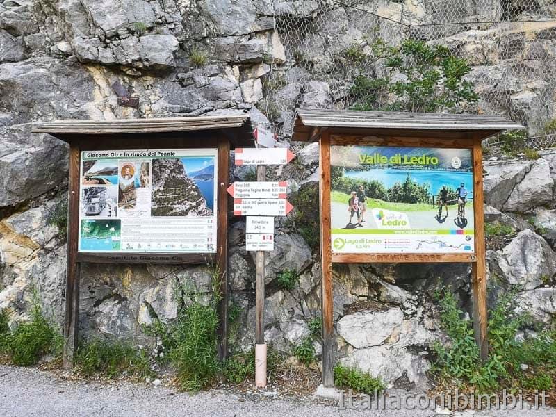 Sentiero del Ponale di Riva del Garda - bivio Valle di Ledro