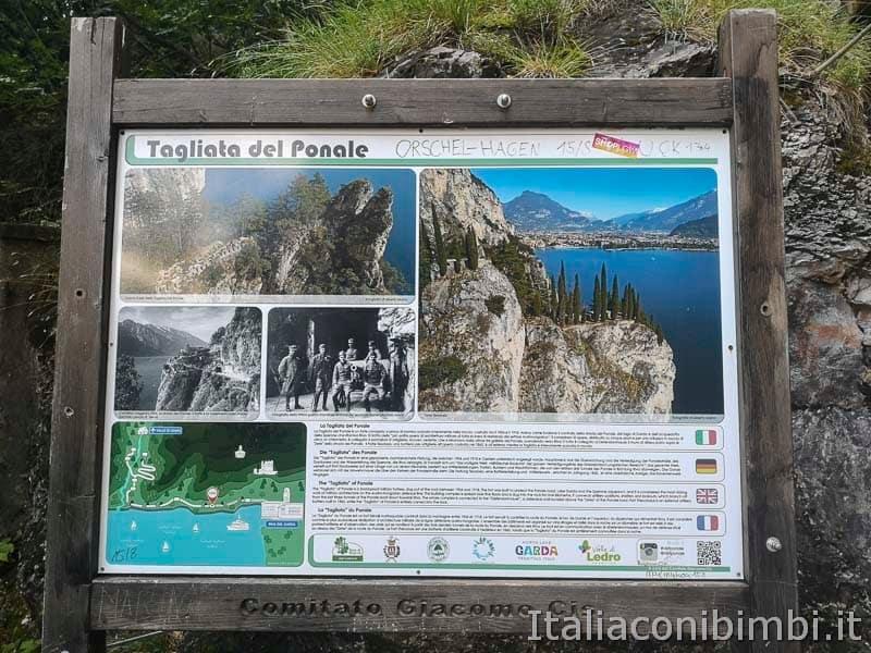 Sentiero del Ponale di Riva del Garda - cartelli storia