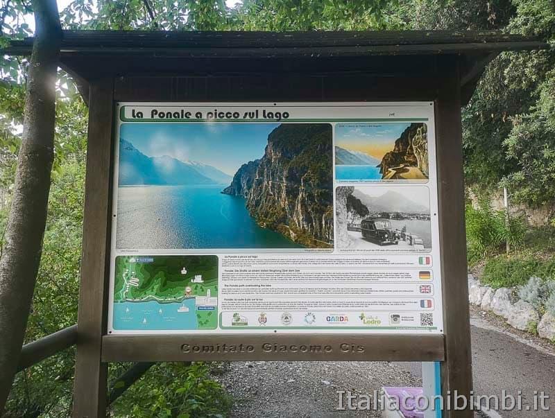 Sentiero del Ponale di Riva del Garda - cartello