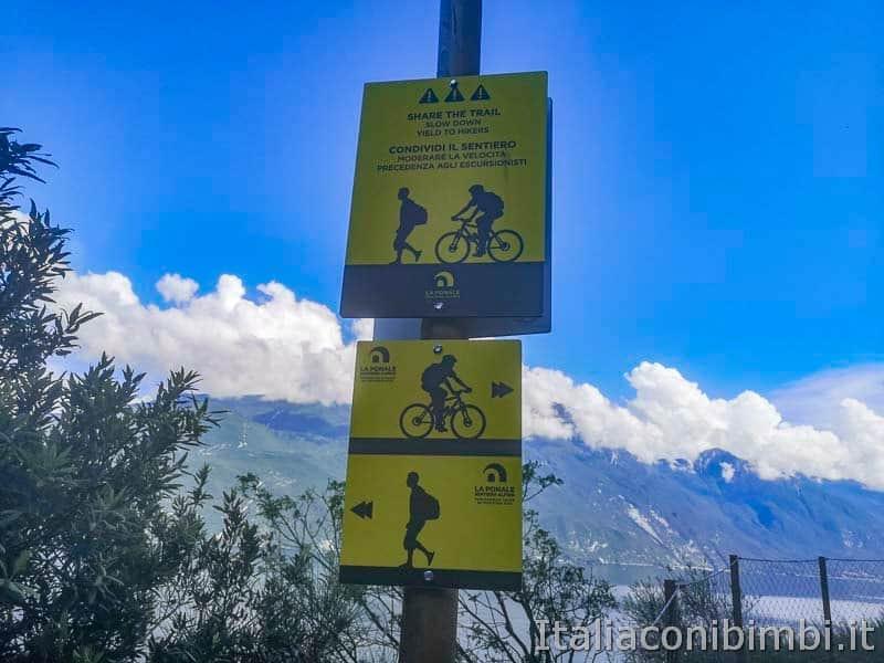Sentiero del Ponale di Riva del Garda - segnaletica