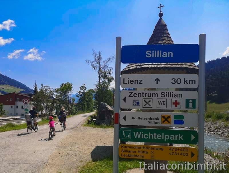 Ciclabile San Candido Lienz - Sillian cartelli