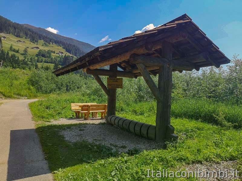 Ciclabile San Candido Lienz - area picnic
