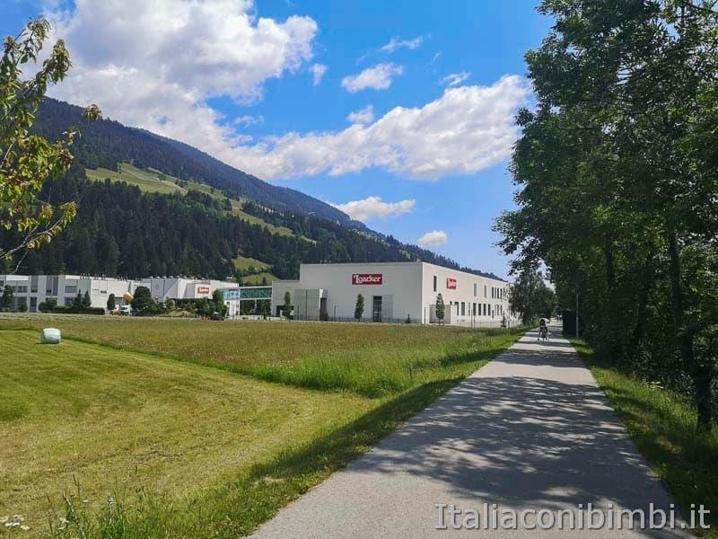 Ciclabile San Candido Lienz - fabbrica Loacker