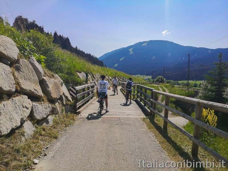 Ciclabile San Candido Lienz - inizio ciclabile