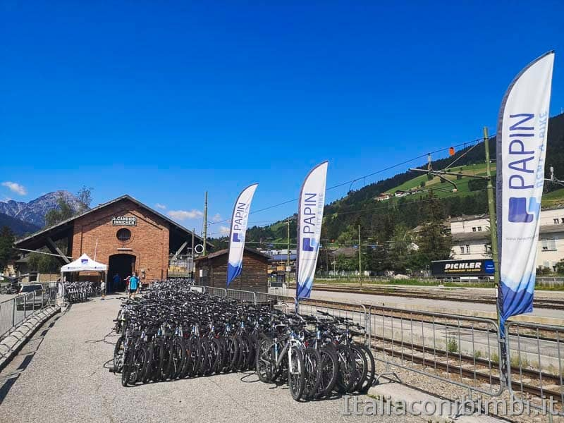 Ciclabile San Candido Lienz - nolegio bici Papin a San Candido