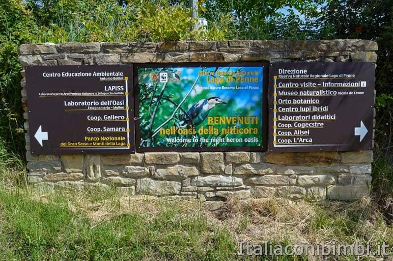 Riserva lago di Penne - insegna