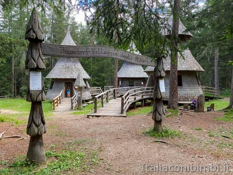 Mondo Magico della Foresta - villaggio degli alberi ingresso