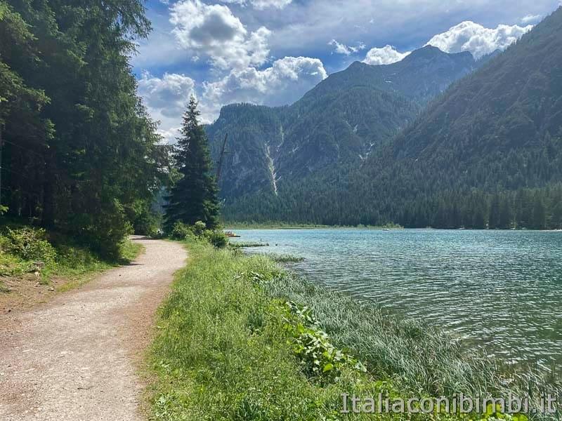 Pista ciclabile - lago di Dobbiaco - sentiero natura