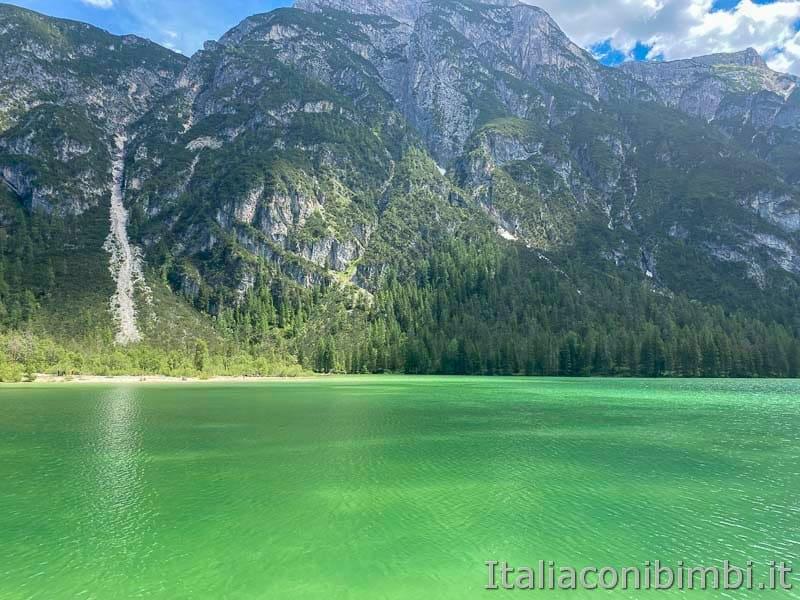 Pista ciclabile - lago di Landro altro lato