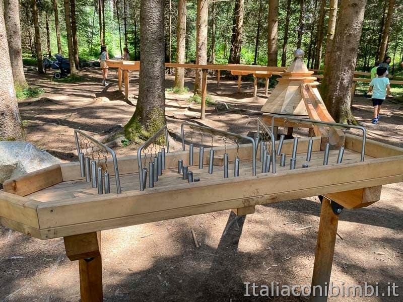 Cascate di Riva - Valle Aurina - pista biglie di legno
