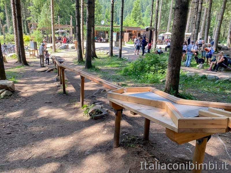 Cascate di Riva - Valle Aurina - pista biglie e bar ristorante