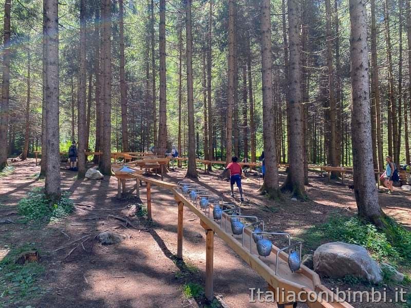 Cascate di Riva - pista palline di legno