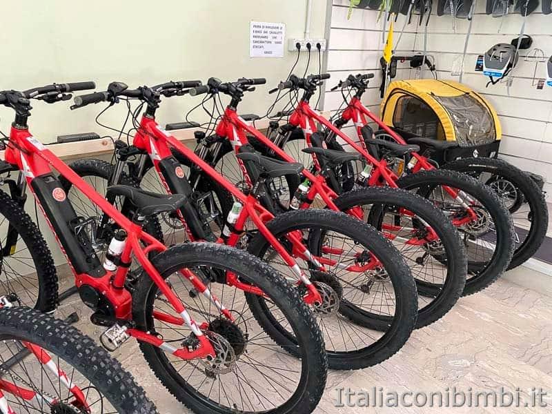 Gola del Furlo - noleggio biciclette