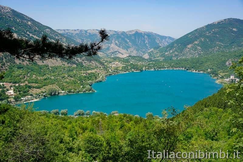 Lago di Scanno - visto dal sentiero del cuore