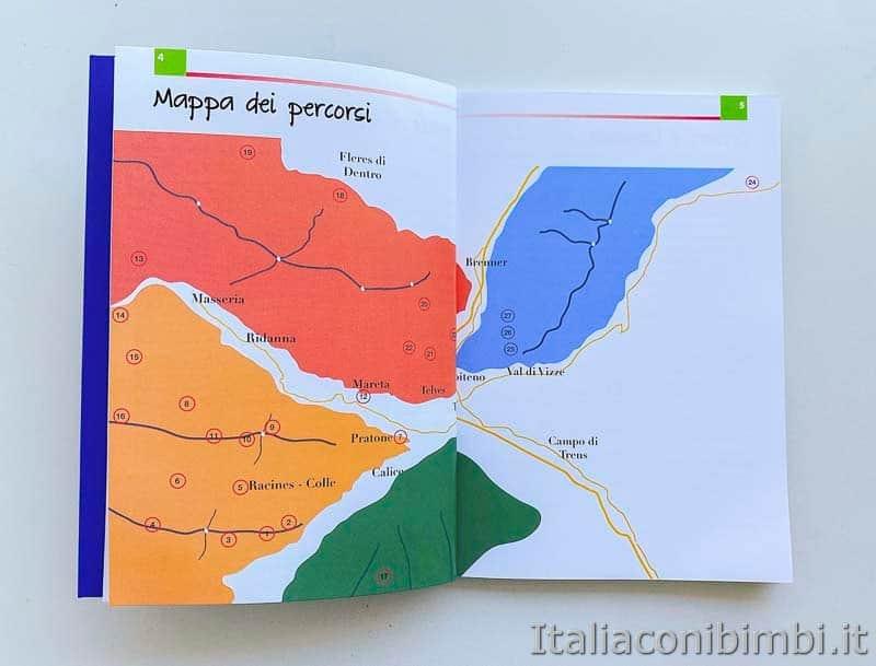 Miniguide Babytrekking - Racines e Vipiteno mappa