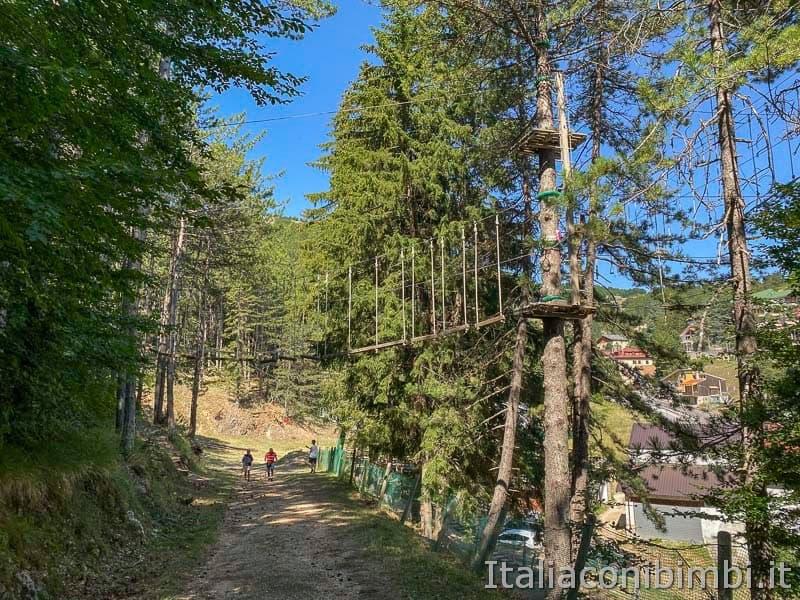 Roccaraso - sentiero 101 inizio - parco avventura