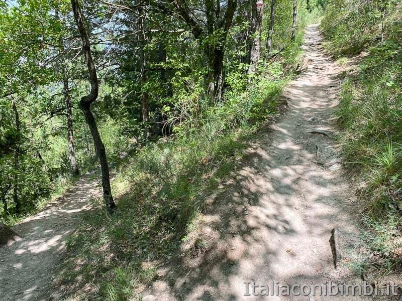 Sentiero del cuore - lago di Scanno - salita doppia