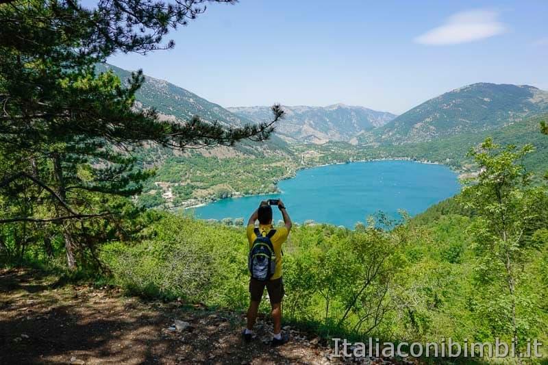 Sentiero del cuore - vista sul lago di Scanno