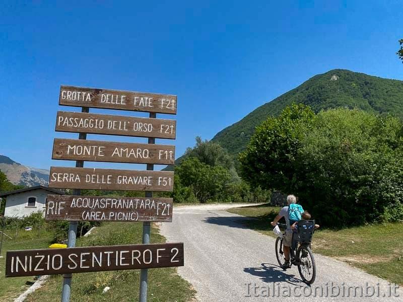 Val Fondillo - inizio sentiero F2