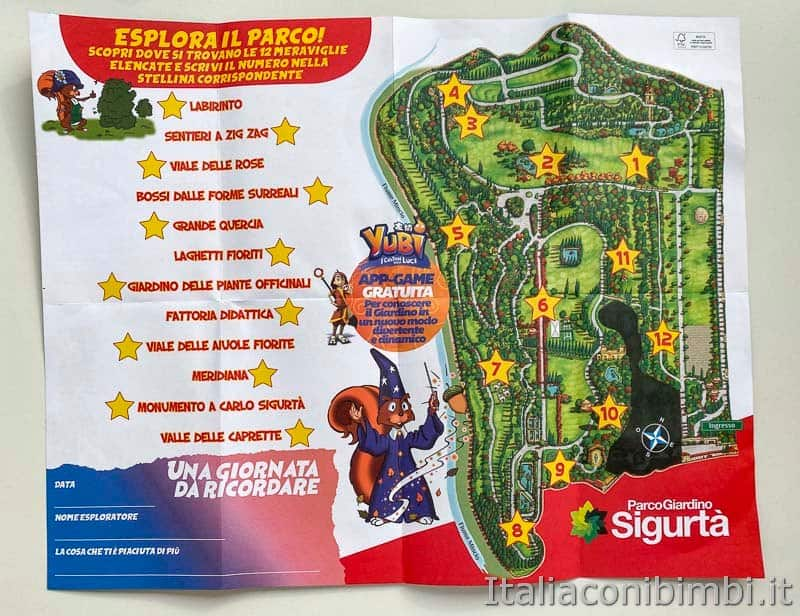Parco Sigurtà - mappa per bambini