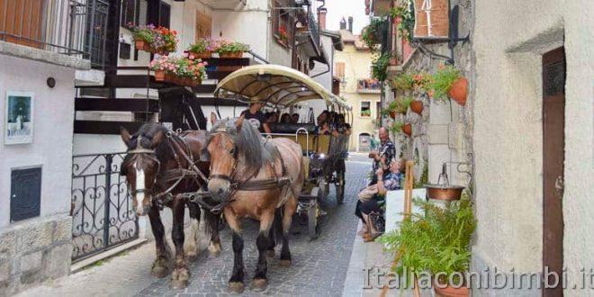 Pescasseroli - carrozza trainata dai cavalli