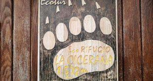 insegna rifugio Cicerana in Abruzzo