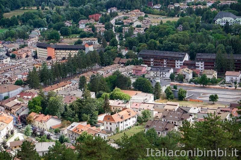 Sentiero B3 per Castel Mancino - Pescasseroli dall'alto