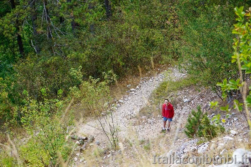 Sentiero B3 per Castel Mancino - Pescasseroli - mio figlio