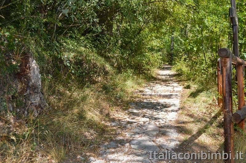 Sentiero B3 per Castel Mancino - Pescasseroli - percorso