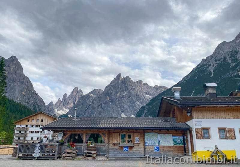 Val Fiscalina - rifugio vicino al parcheggio
