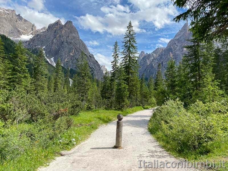 Val Fiscalina - sentiero pedonale