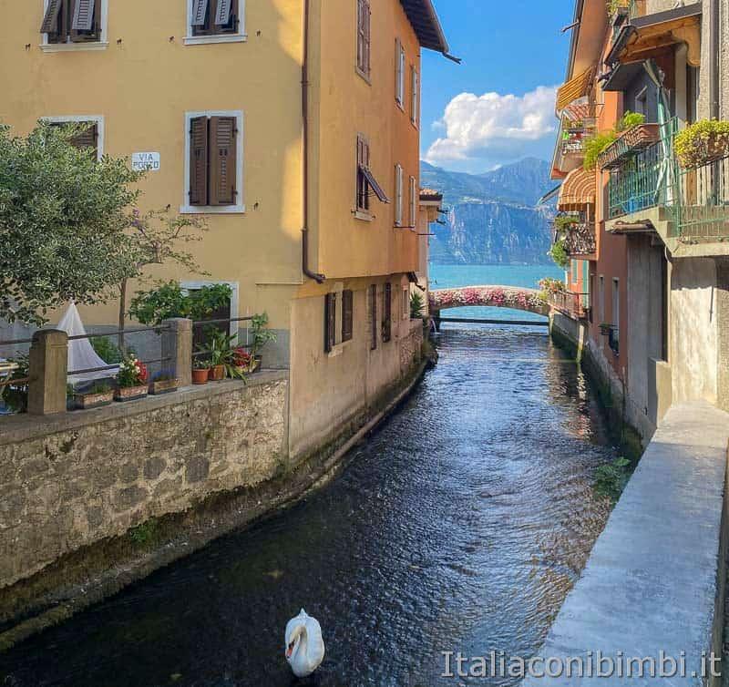 Fiume Aril - sbocco sul lago di Garda