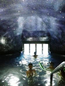 piscina blu